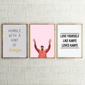 Kanye West Canvas Art Prints Hip Hop Poster , Music Rap Poster Kanye