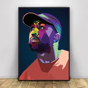 Kanye West Pop Art Hiphop Rapper Music Singer Poster Print Wall Art