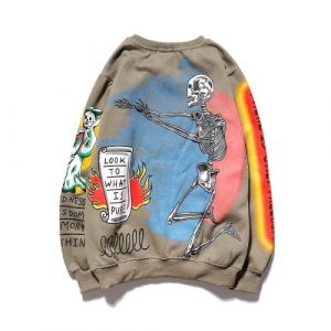 Kids See Ghosts Shirt KANYE Skull Print Jesus is King Hoodie