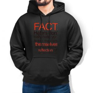 Kanye West Pablo Merch Hater Facts Black Hoodie