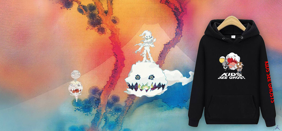 kids see ghosts album cover with hoodie